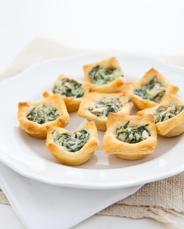 Mushroom and Spinach Tartlets Recipe