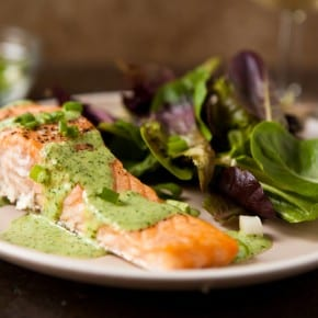 Baked Salmon with Wasabi Sauce 1