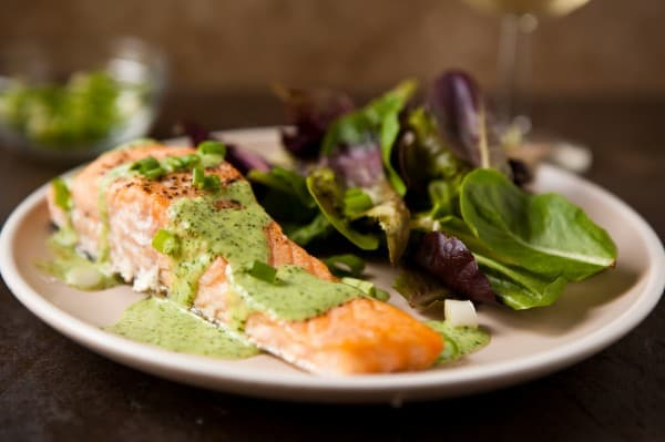 Baked Salmon with Wasabi Sauce Recipe
