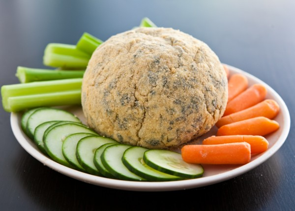 cheese ball black background