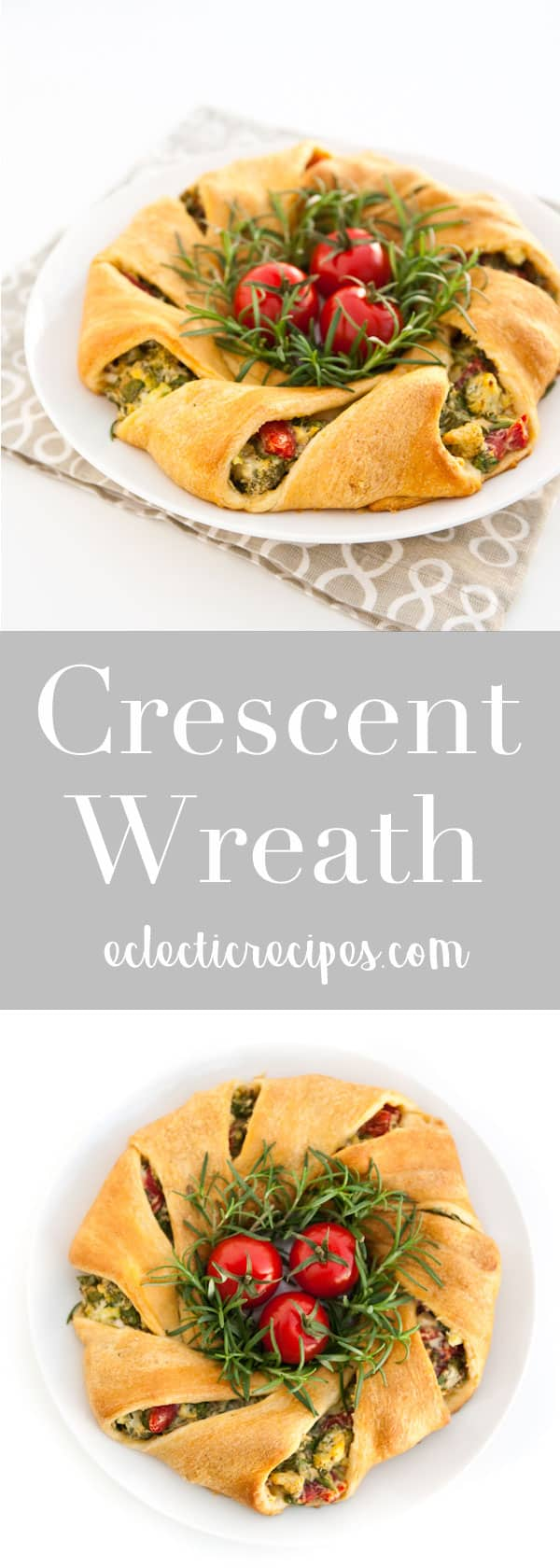 Crescent Wreath #holiday #christmas #crescent #wreath