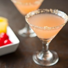 Pineapple Upside-Down Martinis