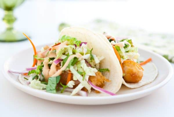 tacos with yum yum sauce