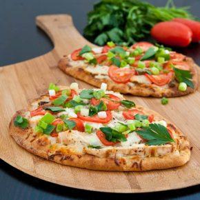 Chicken Ranch Naan Pizzas 3