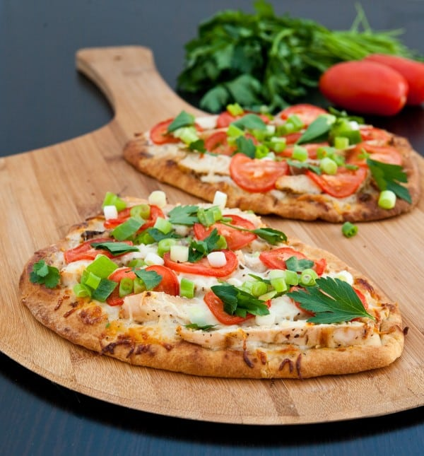 Chicken Ranch Naan Pizzas Recipe