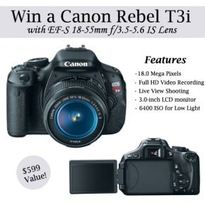 Canon Rebel T3i Giveaway 2