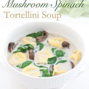 Mushroom Spinach Tortellini Soup 3