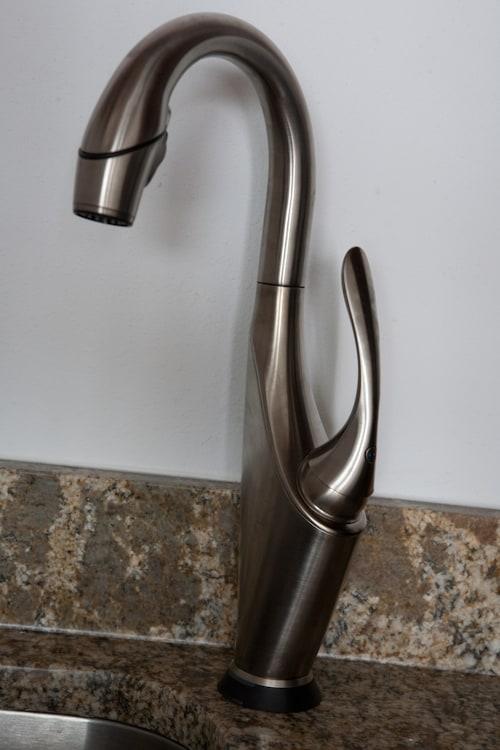 faucet in wet bar
