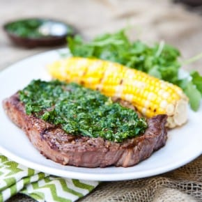 Grilled Gaucho Rib-Eye Steaks with Cilantro Chimichurri 3