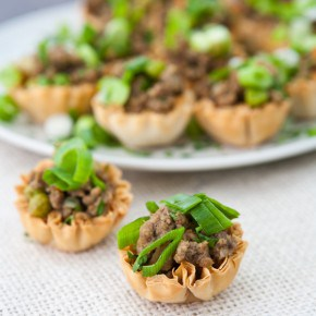 Mini Jamaican Beef Bites In Phyllo Shells  3