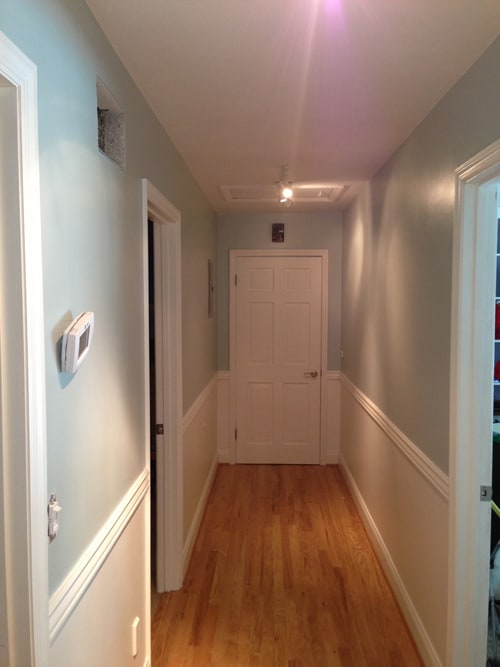 new hallway painted different