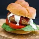Sriracha Ranch Chicken Burgers @EclecticEveryday