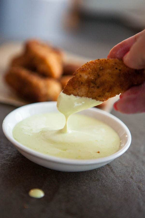 dipping chicken