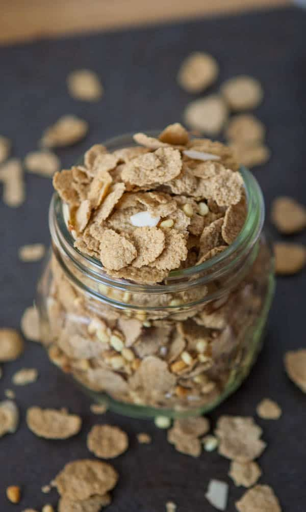 cereal in jar