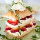 Easy Strawberry Basil Napoleons @EclecticEveryday