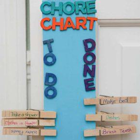 DIY Clothespin Chore Chart 2