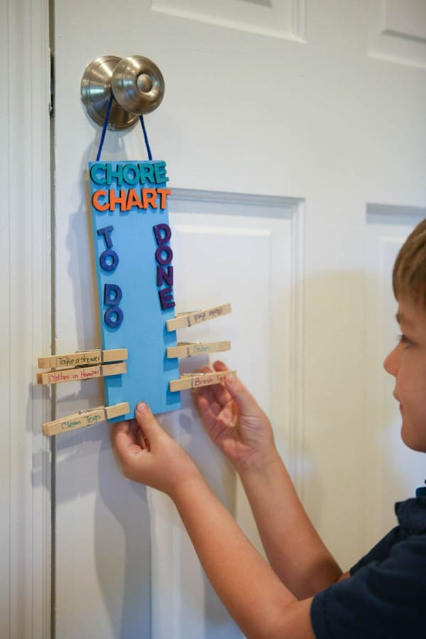 child looking at chop chart
