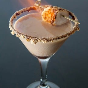 Flaming S'mores Martini 2