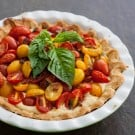 Cherry Tomato Pie @EclecticEveryday