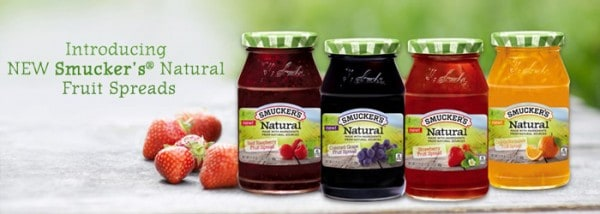 smuckers natural fruit spreads