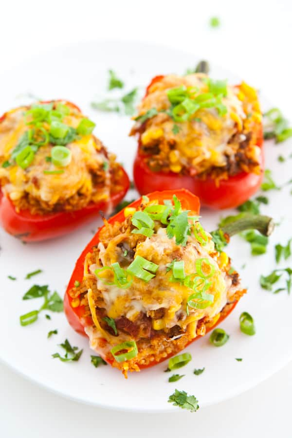 Bell Peppers Stuffed with Taco Rice Recipe