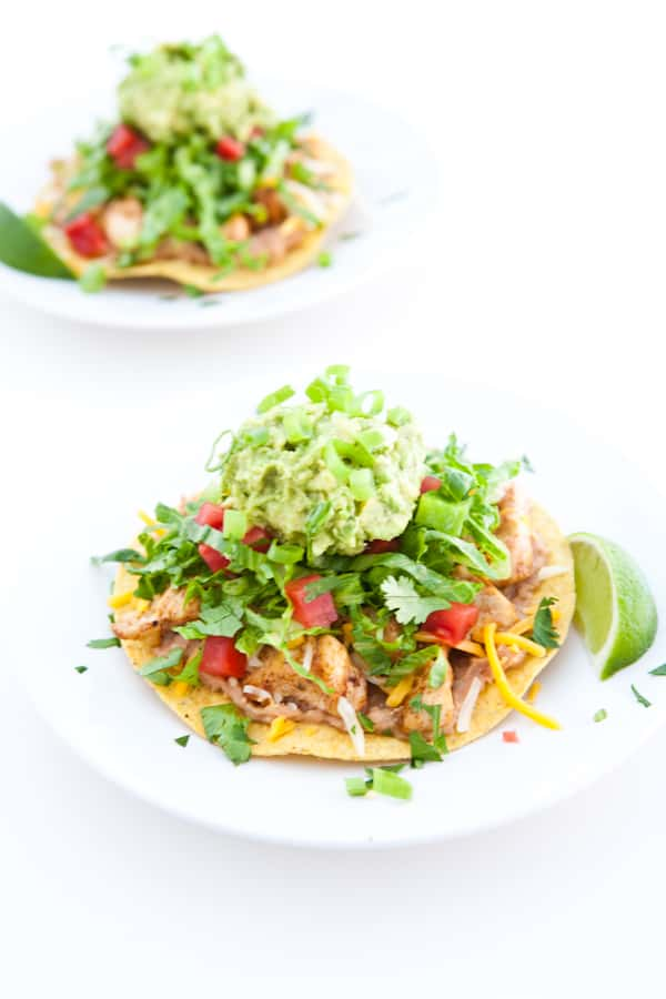 tostadas white background