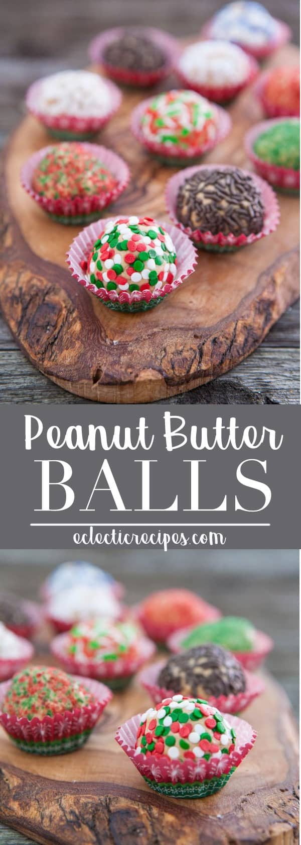 Easy to make Peanut Butter Balls make the perfect holiday treat! #recipe #christmas #holiday