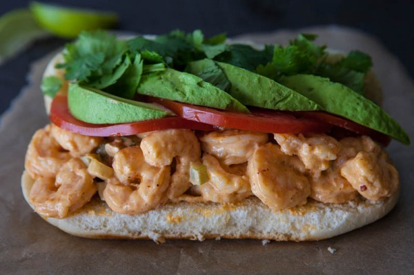 Spicy Chipotle Grilled Shrimp Salad Sandwiches Recipe