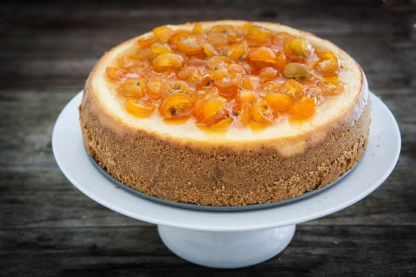 Orange Cheesecake with Candied Kumquats and a KitchenAid Giveaway Recipe