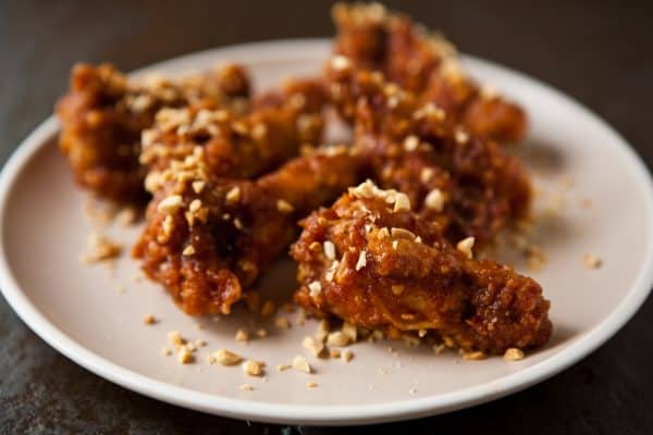 fried wings on plate