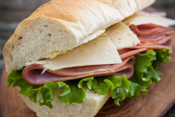 Ham and Swiss Baquette with Spicy Honey Mustard Recipe