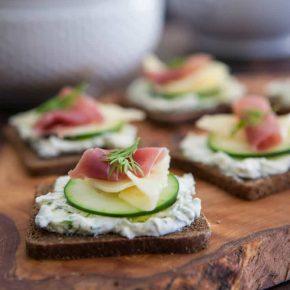 Prosciutto, Swiss and Cucumber Appetizer 2