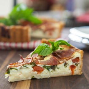 Peperoni Pizza Quiche  2