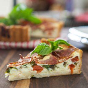 Peperoni Pizza Quiche  2
