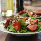 Spinach and Strawberry Salad with Feta @EclecticEveryday