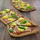 Ham and Pineapple Flat Bread Pizzas @EclecticEveryday