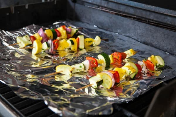 Grilled Fruit and Vegetable Kabobs Recipe