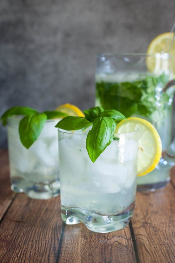 drinks with lemon slices