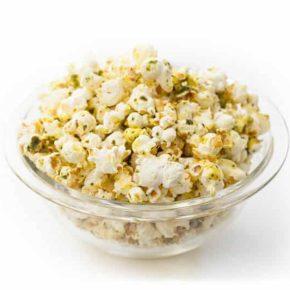 Buttery Pesto Popcorn 3