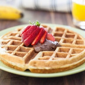 Banana Bread Waffles with Nutella  3