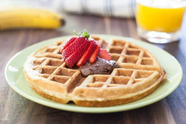 Banana Bread Waffles with Nutella Recipe