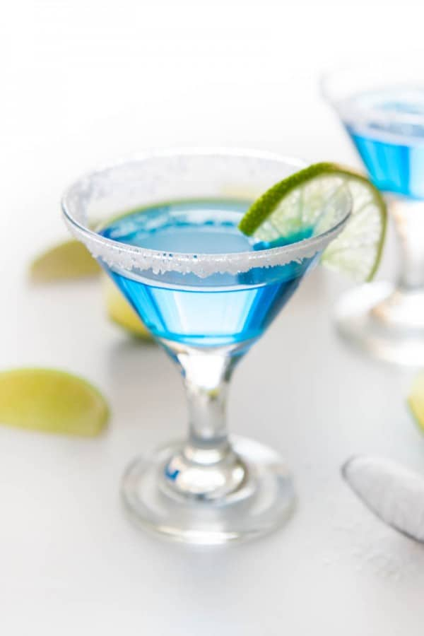 single blue cocktail