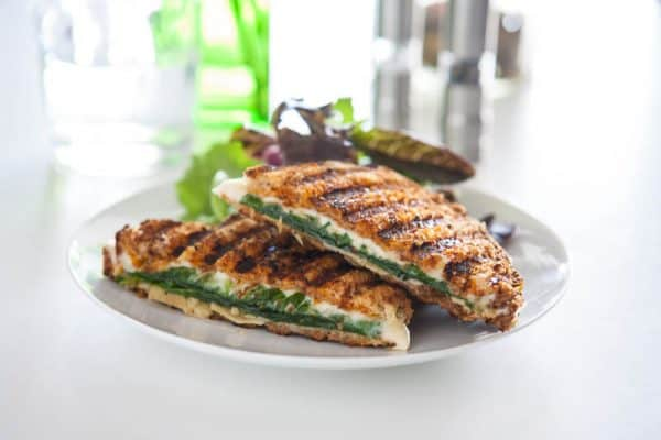 cheese paninis with greens