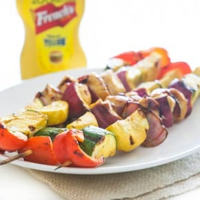 Honey Mustard Chicken and Veggie Kabobs  1