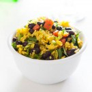 Black Bean and Yellow Rice Salad @EclecticEveryday