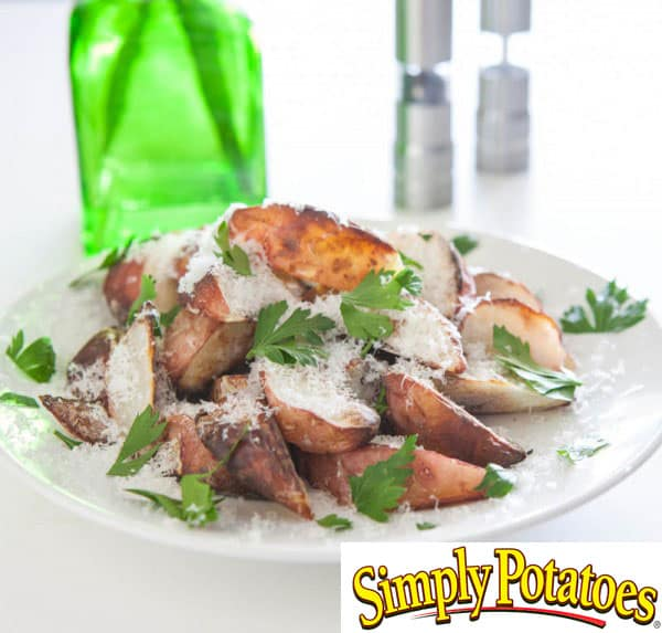 plate of potratoes with simply potatoes logo