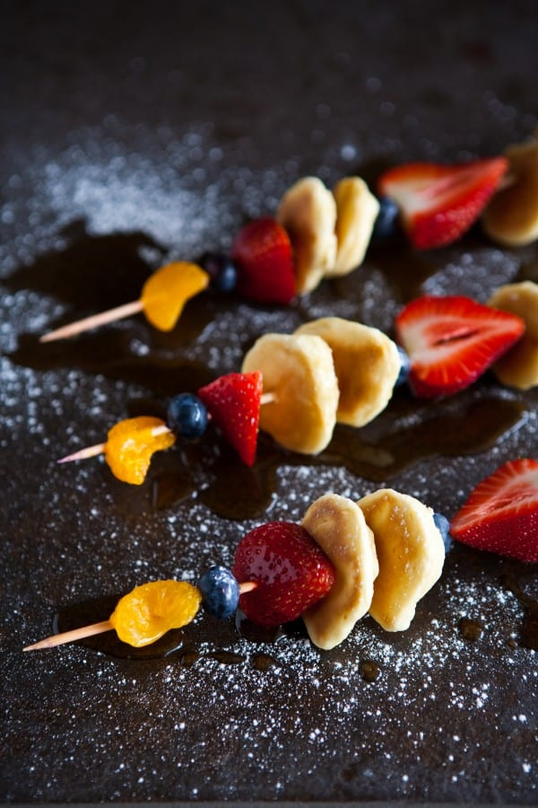 Pancake and Fruit Skewers Recipe