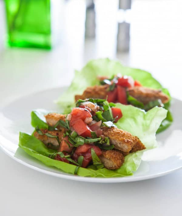 Bruschetta Chicken Lettuce Wraps and a $100 VISA Gift Card Giveaway!  Recipe