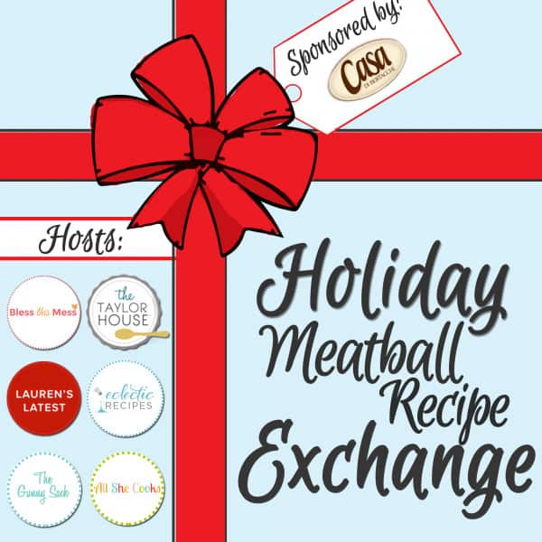 holiday meatball recipe exchange banner