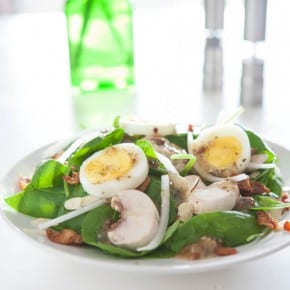 Bacon Egg and Spinach Salad 2